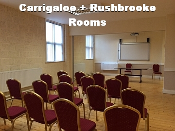 Carrigaloe+Rushbrooke Rooms with White Text